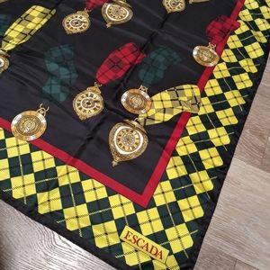 EUC 1980s Escada Vintage 100% Silk Scarf Wrap